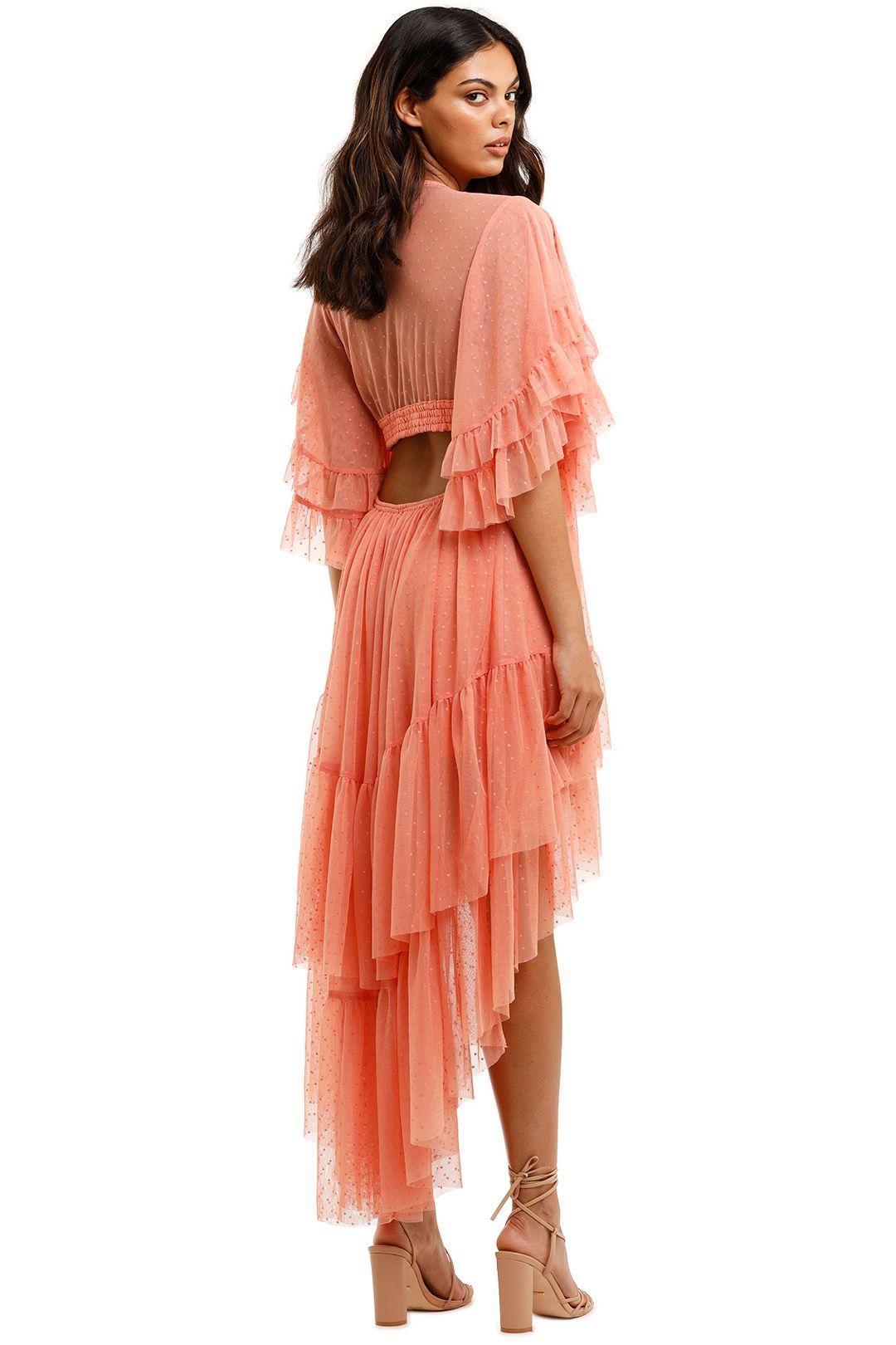 Spell Grace Cutout Gown Peach Polkadot