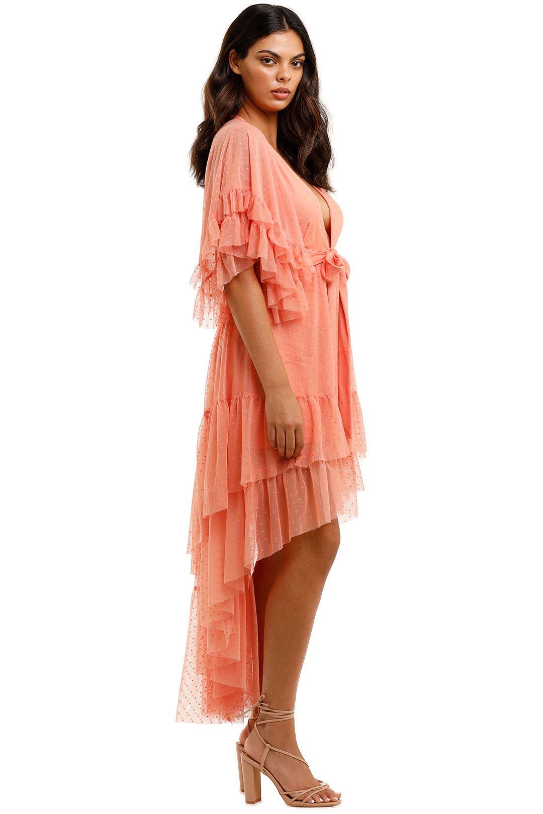 Spell Grace Cutout Gown Peach