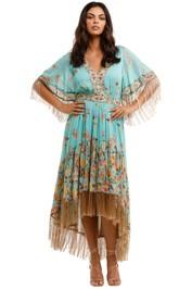 Spell Hendrix Tasseled Dress Sky
