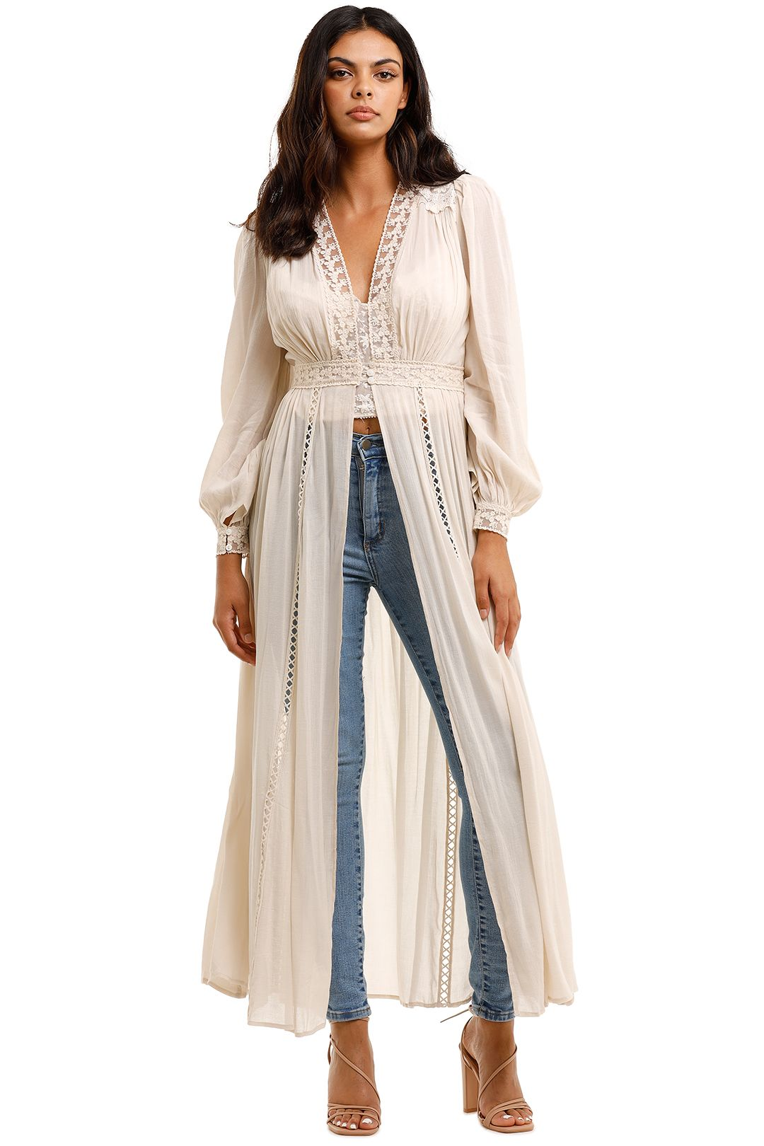 Spell Le Gauze Lace Duster