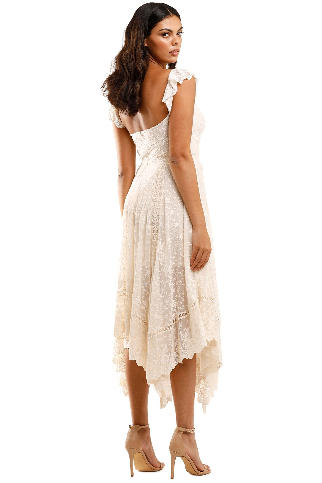 Spell Le Gauze Lace Kerchief Dress Low Back
