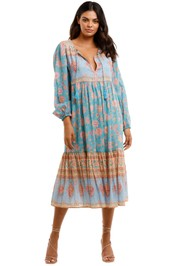 Spell Love Story Boho Dress Sky Blue