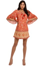 Spell Love Story Flutter Tunic Red Coral