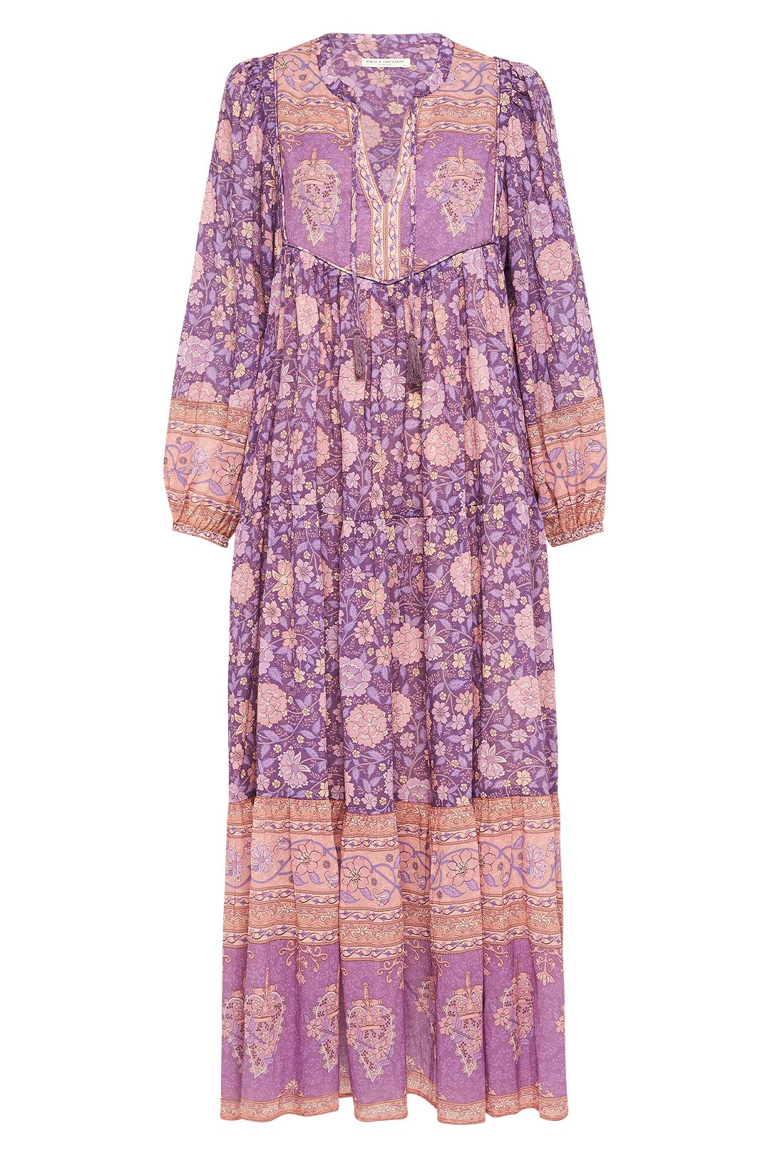 Spell Love Story Gown Royal Lilac Blouson Sleeves