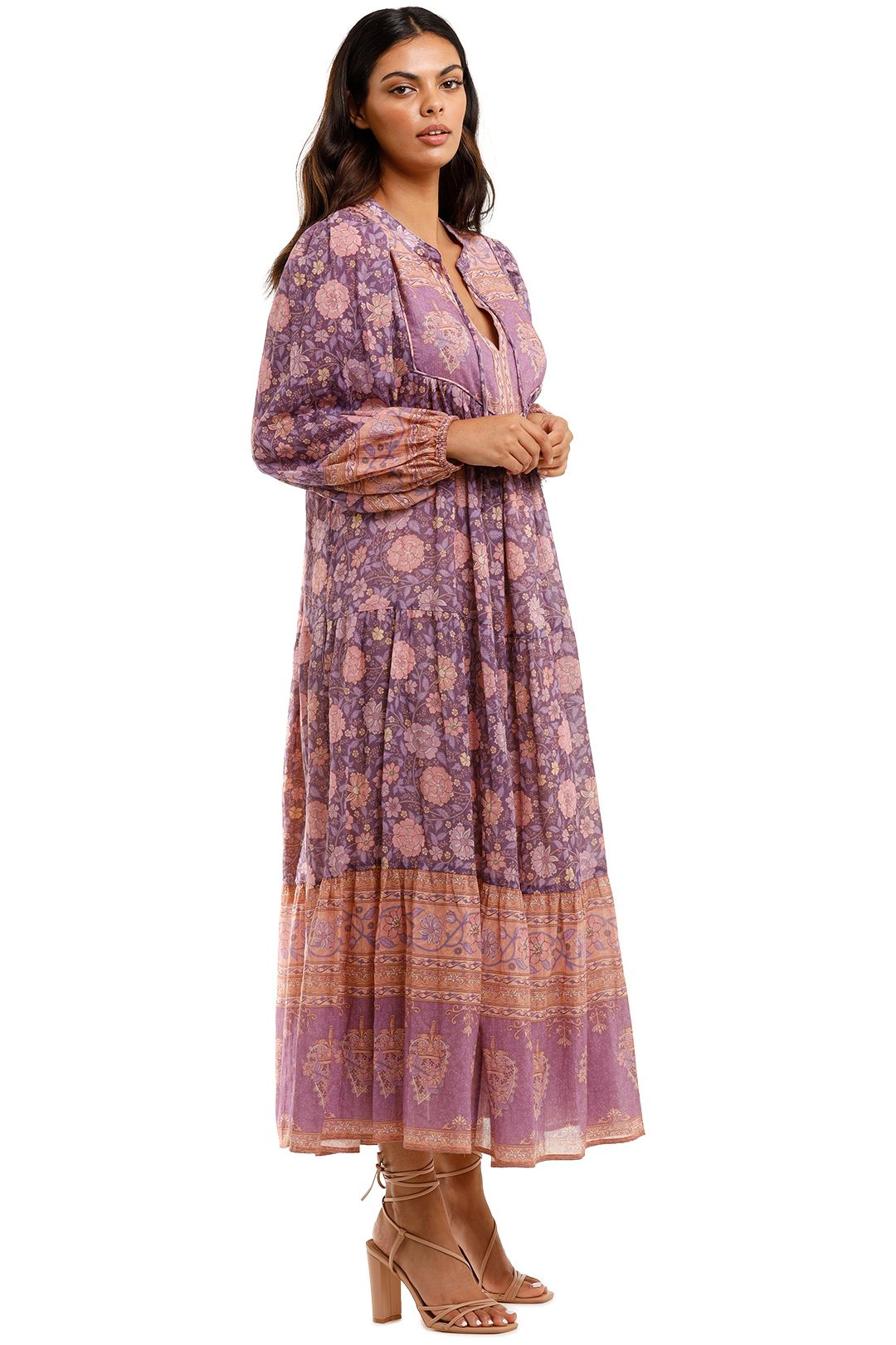 Spell Love Story Gown Royal Lilac Purple Tie Neck