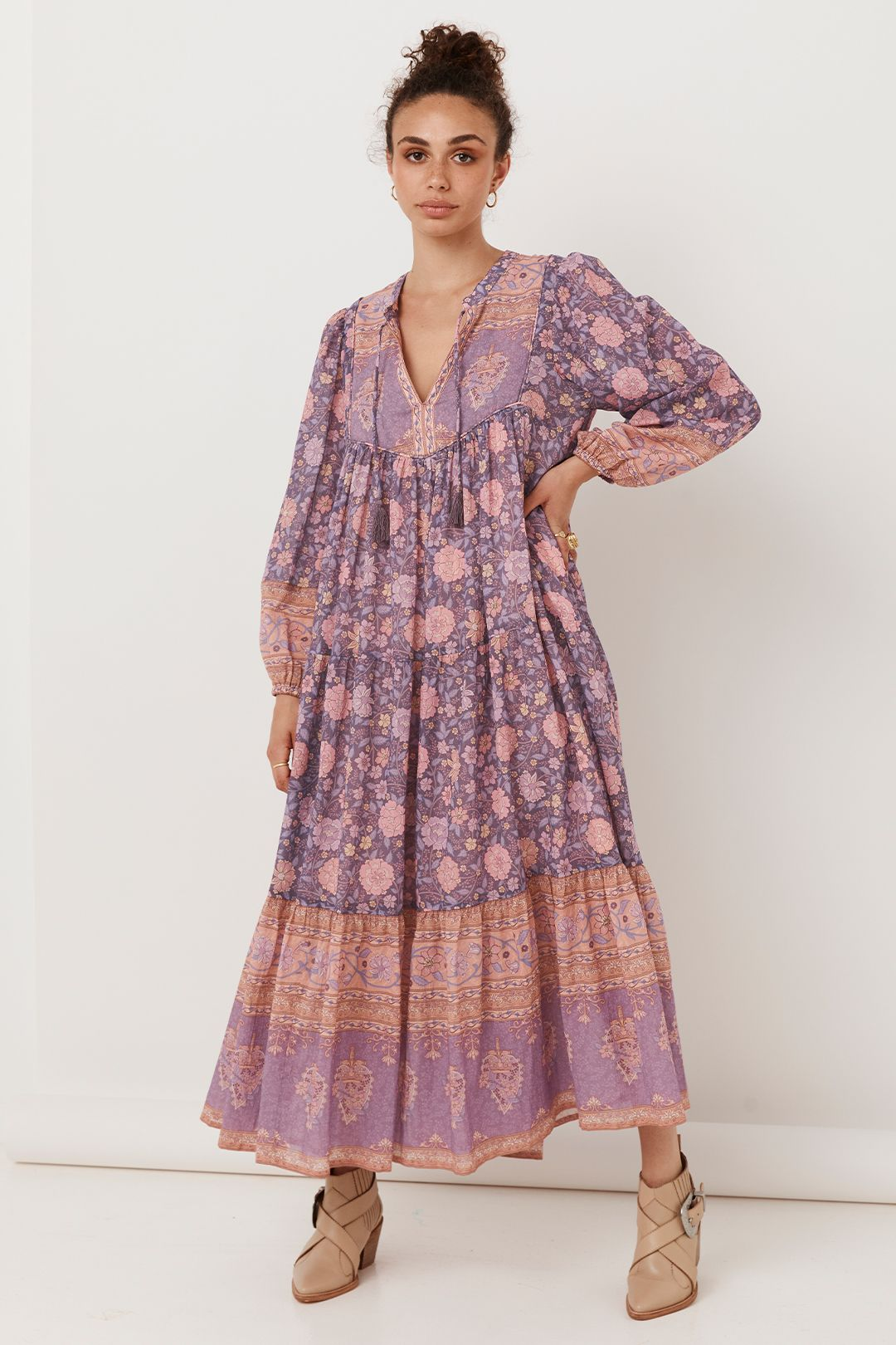 Spell Love Story Gown Royal Lilac Paisley