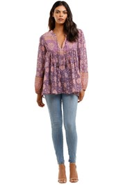 Spell Love Story Long Sleeve Blouse Royal Lilac