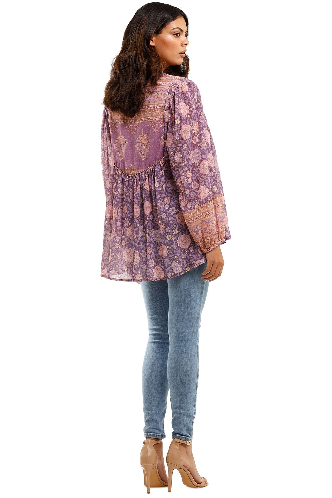 Spell Love Story Long Sleeve Blouse Royal Lilac Floral
