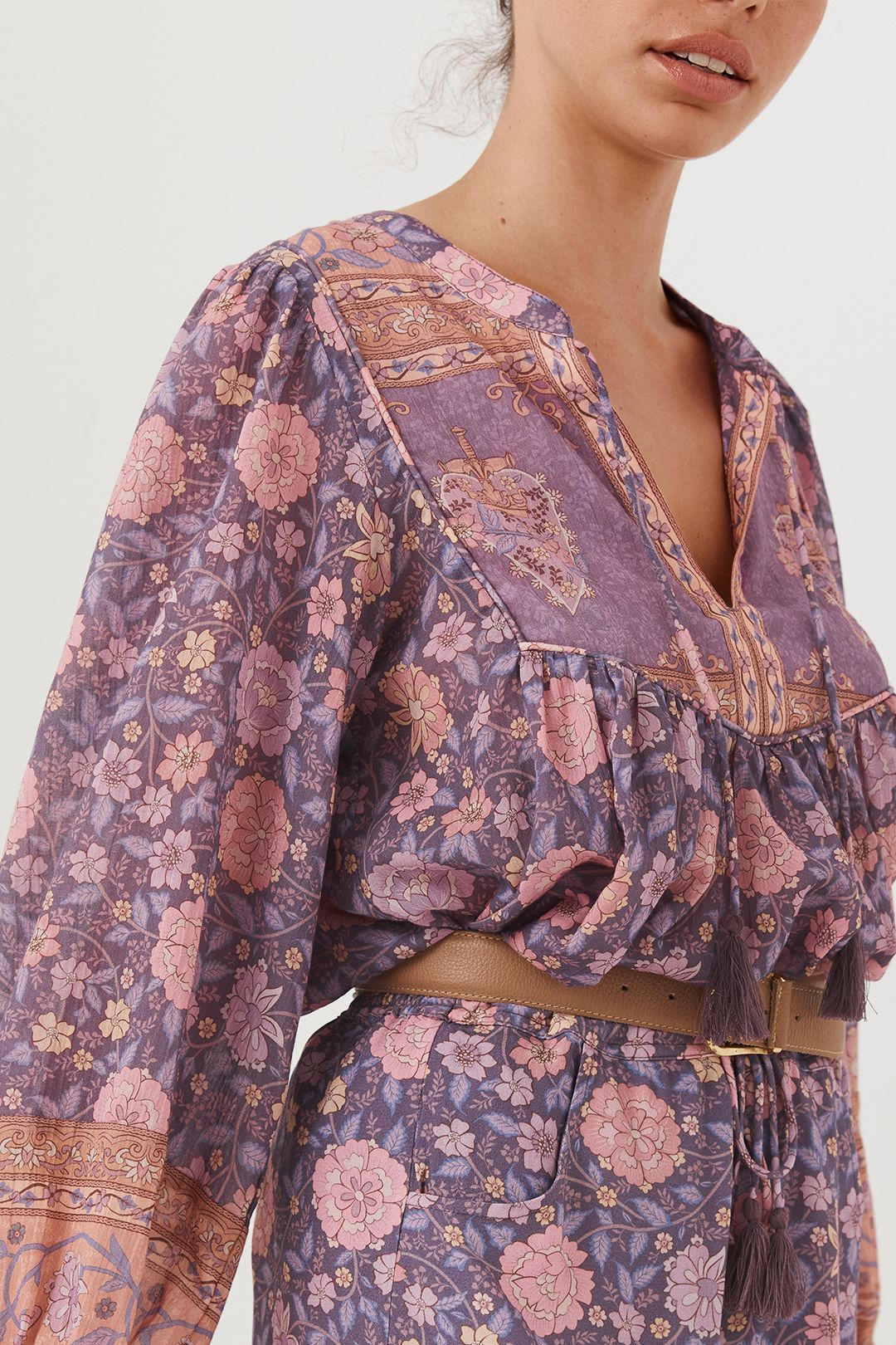 Spell Love Story Long Sleeve Blouse Royal Lilac Purple