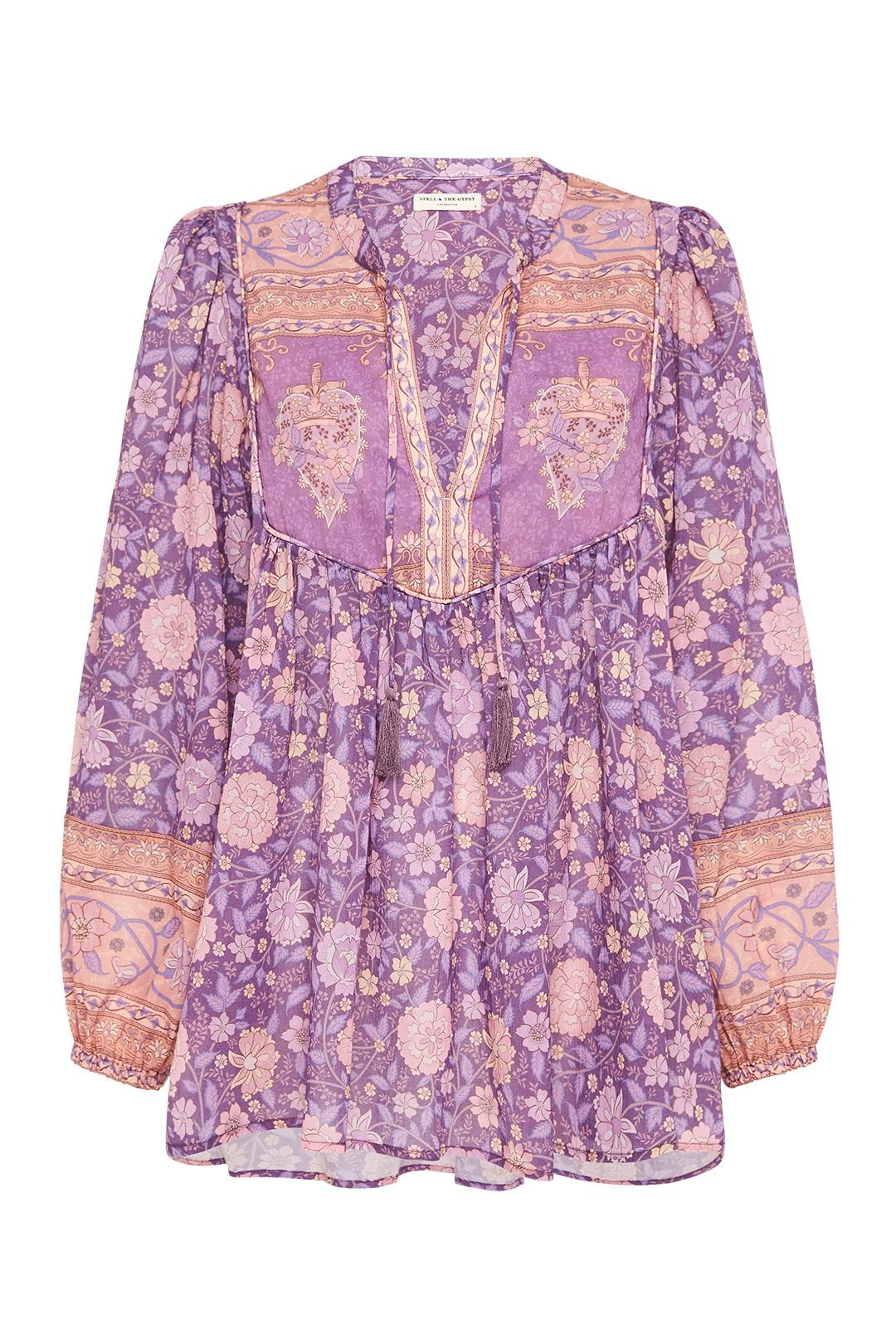 Spell Love Story Long Sleeve Blouse Royal Lilac Relaxed Fit