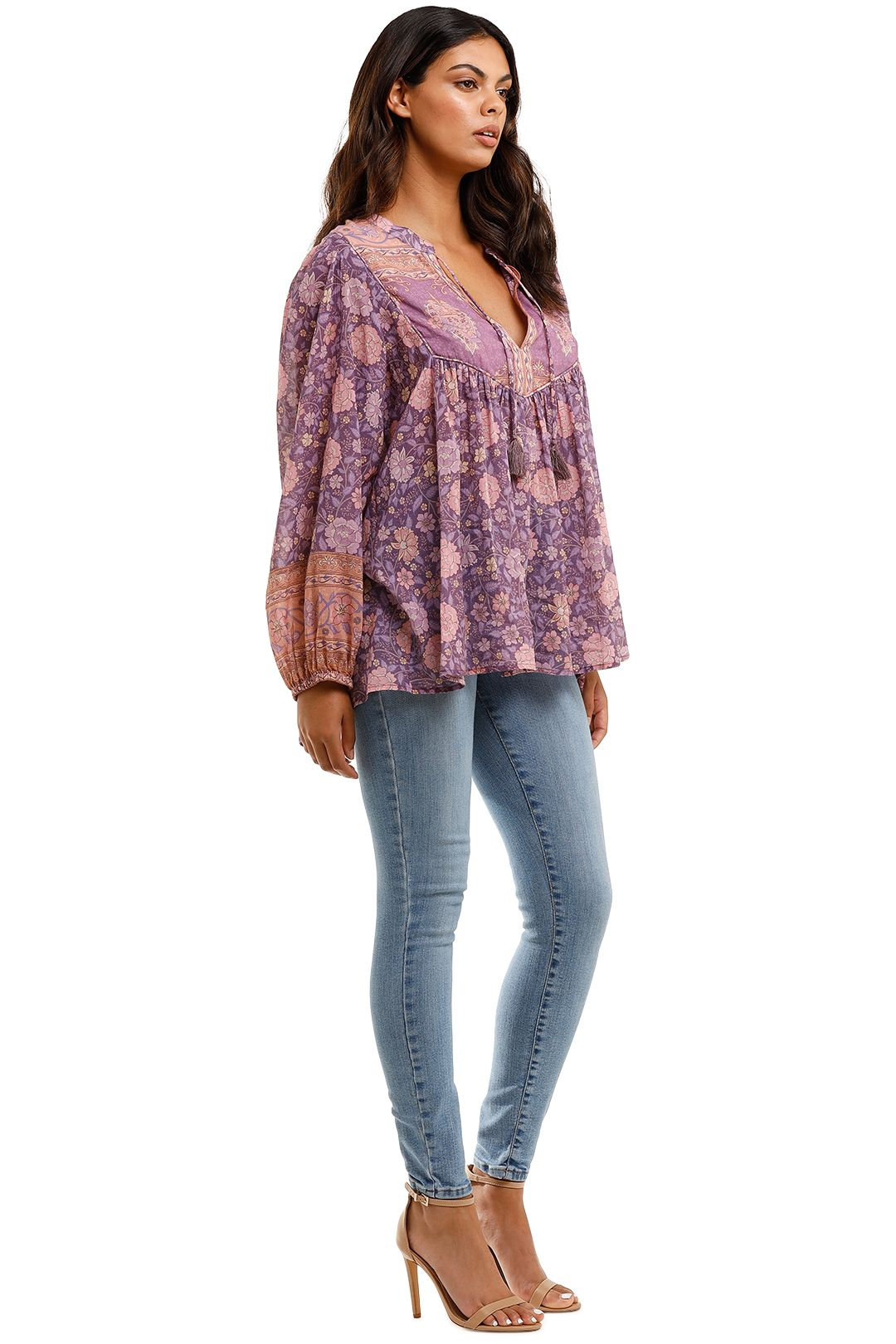 Spell Love Story Long Sleeve Blouse Royal Lilac Smock
