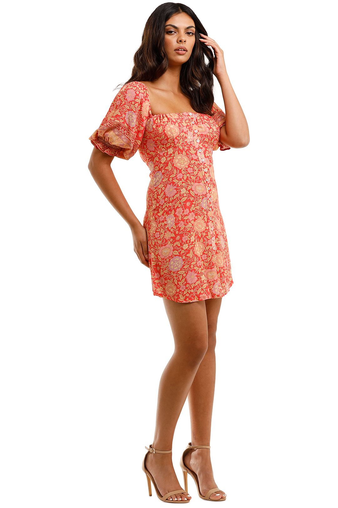 Spell Love Story Mini Dress Red Coral