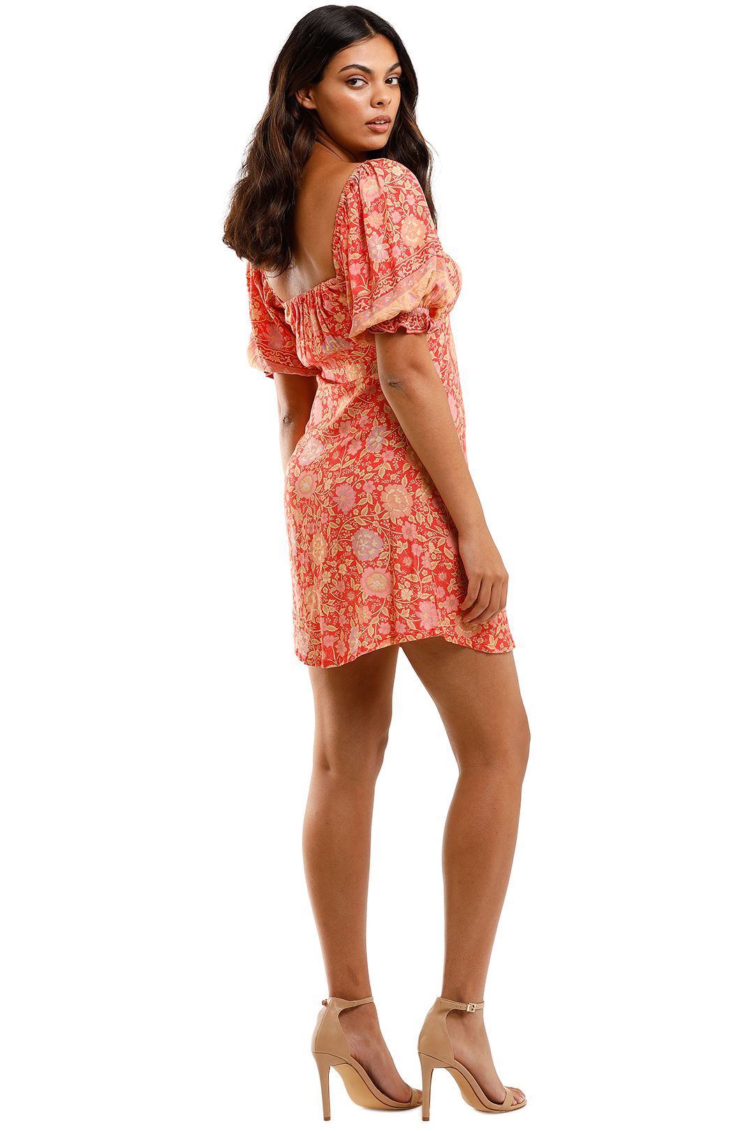 Spell Love Story Mini Dress Red Coral Floral