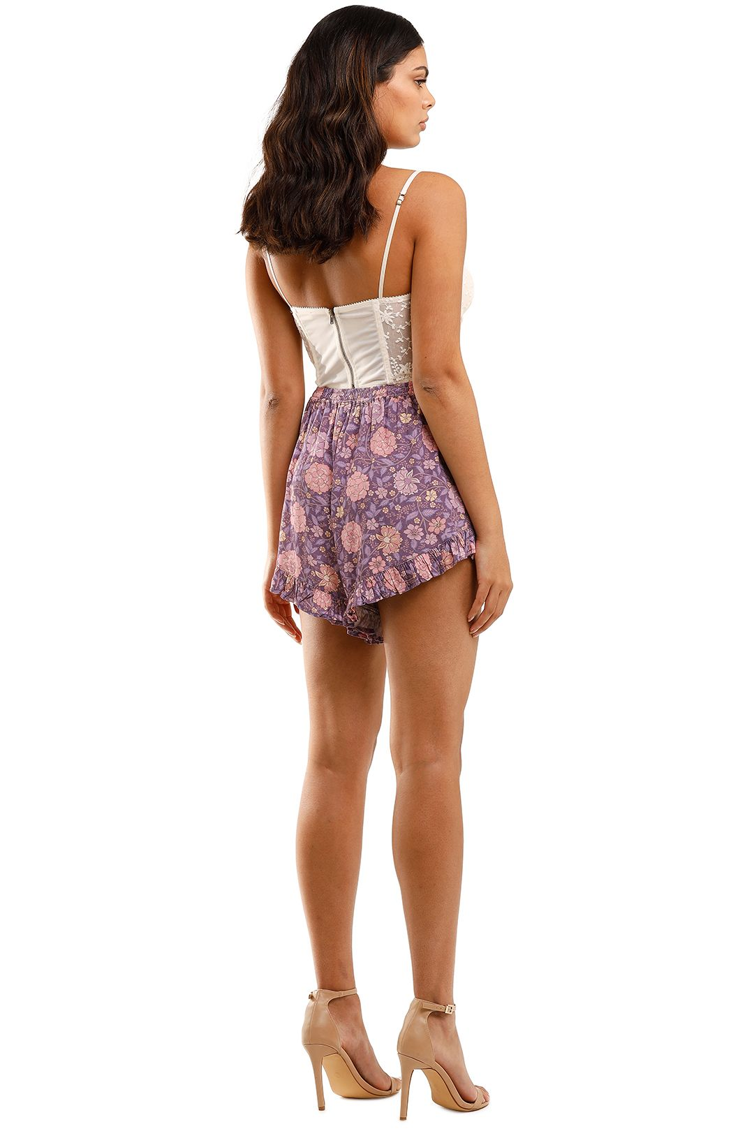 Spell Love Story Shorts Royal Lilac Floral