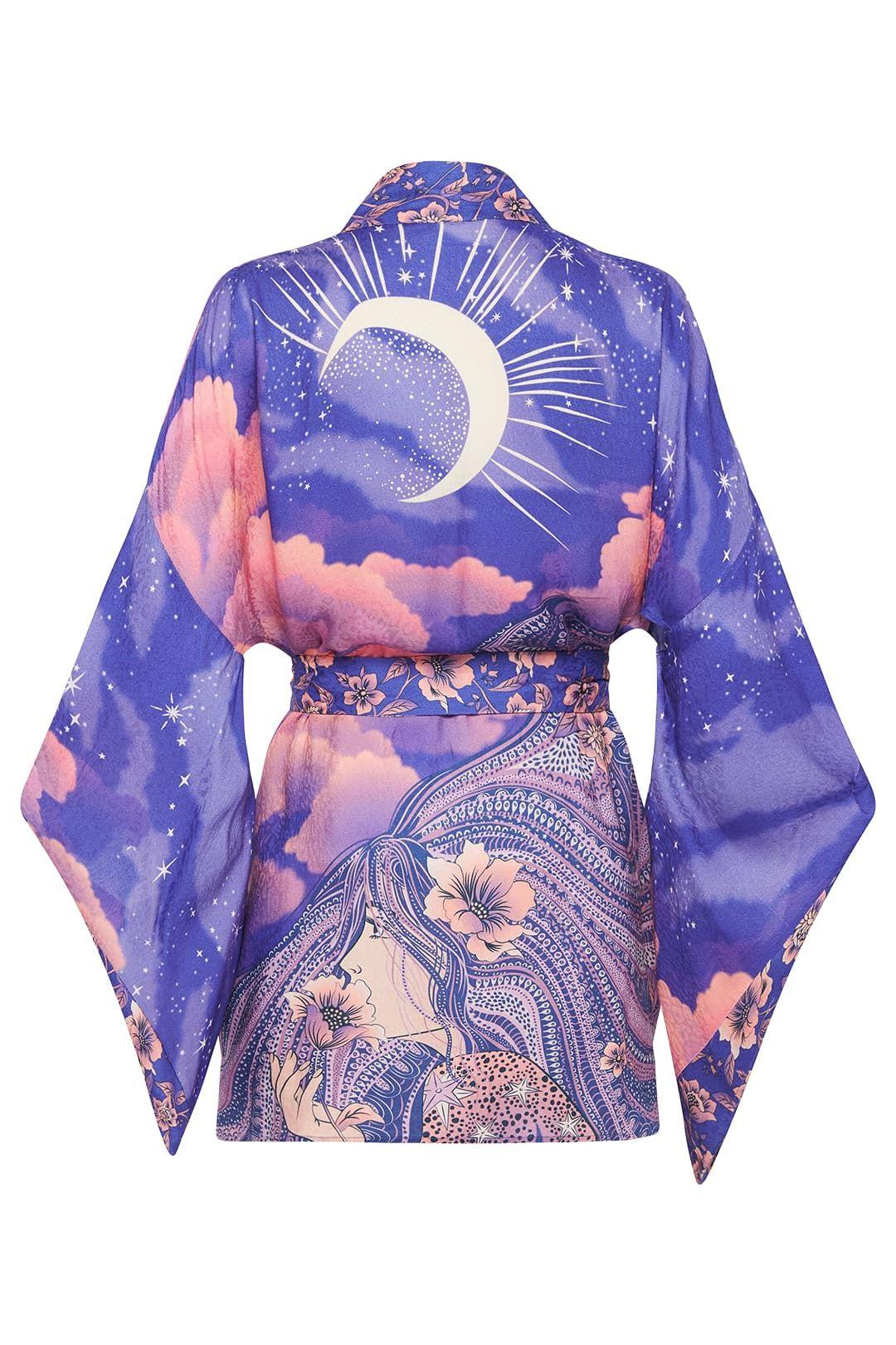 Spell Luna Short Robe Kimono Sleeves