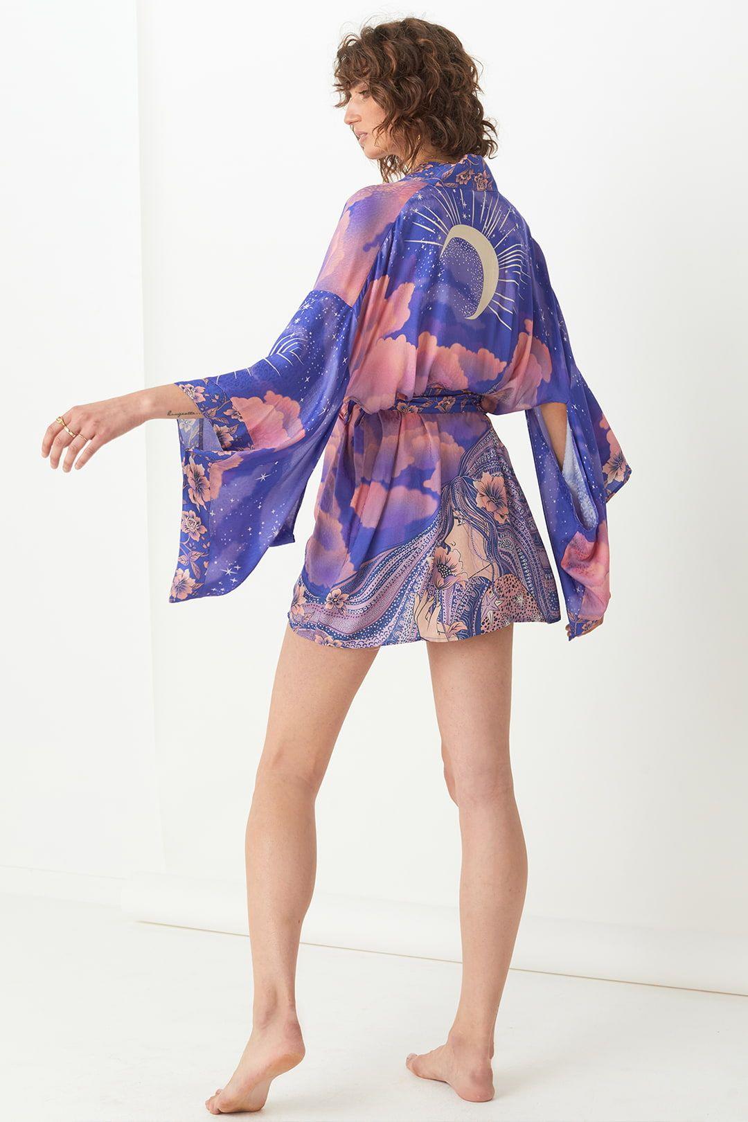 Spell Luna Short Robe Mini Length