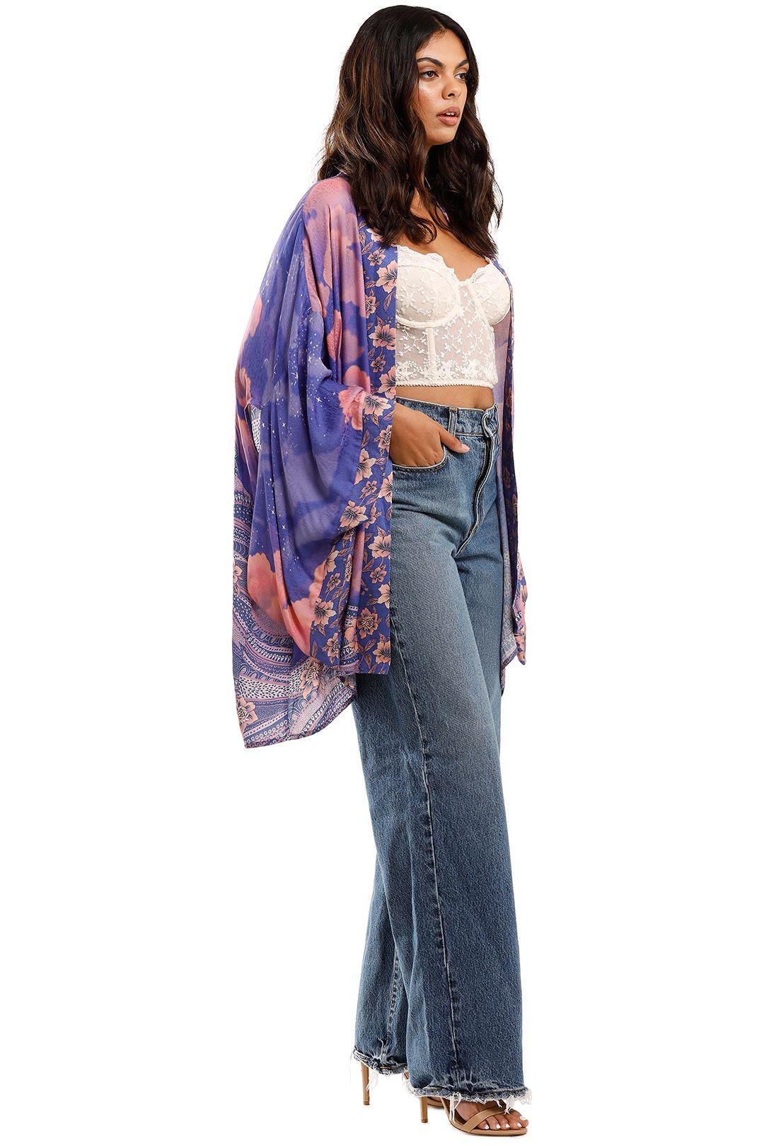 Spell Luna Short Robe Purple