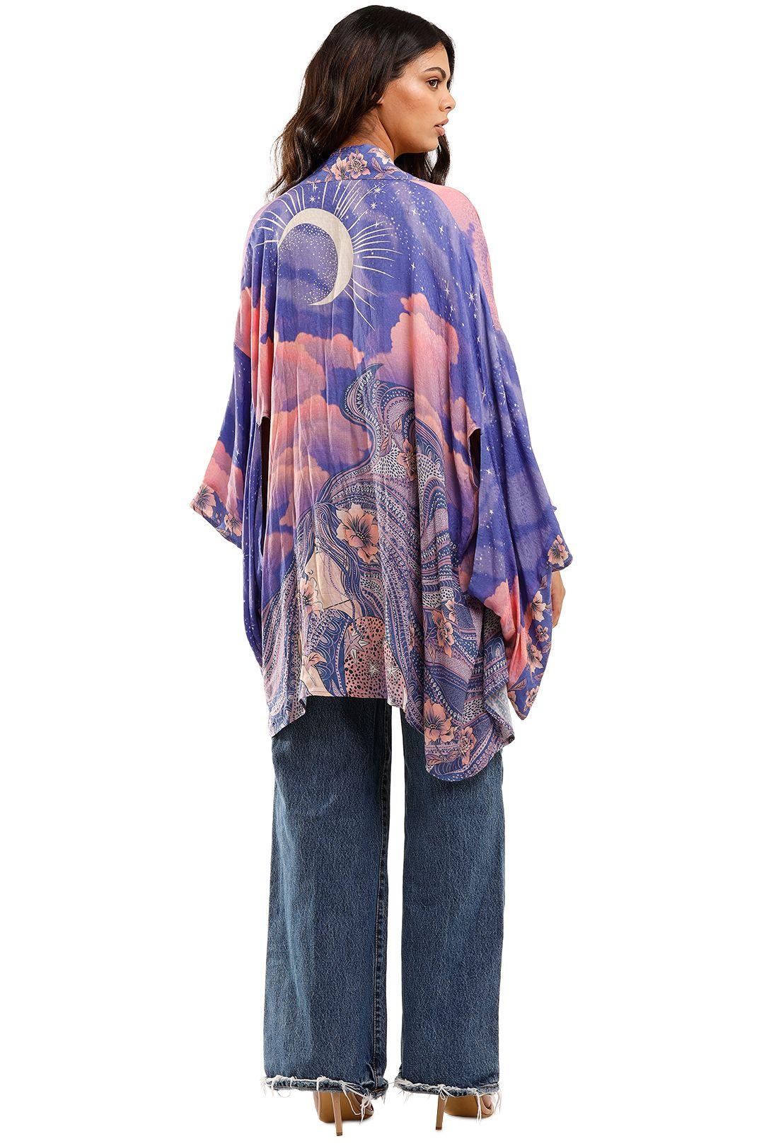 Spell Luna Short Robe Purple Mini