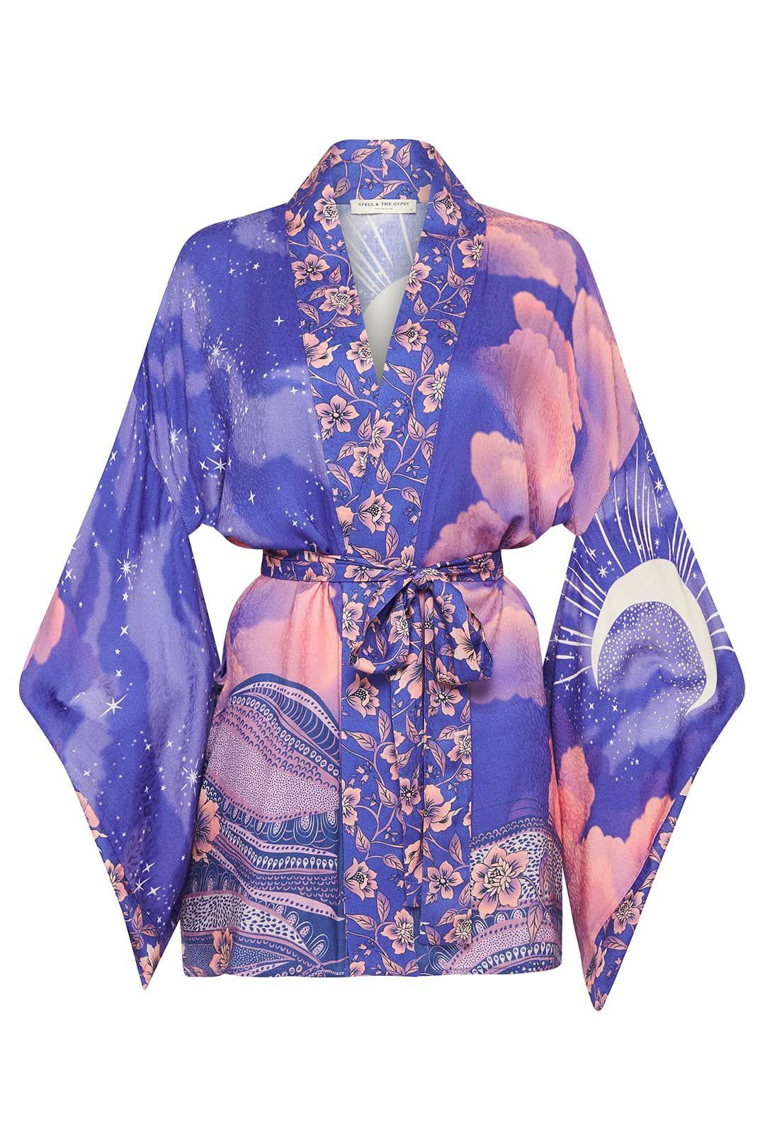 Spell Luna Short Robe Tie Waist