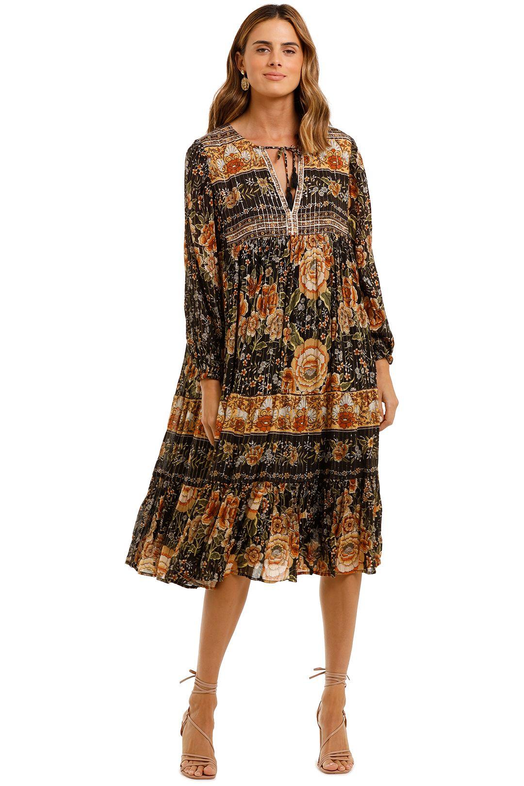 Mystic Boho Dress in Nightfall | Spell | GlamCorner