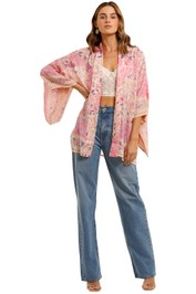 Spell Mystic Short Robe Musk Pink