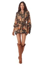 Spell Mystic Short Robe Nightfall Black Gold