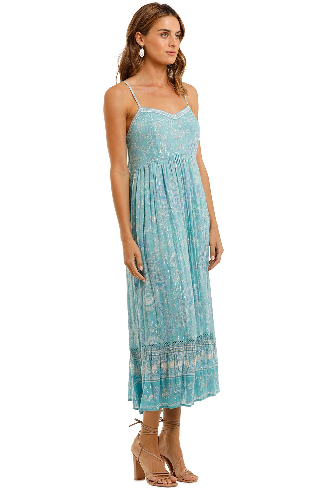 Spell Mystic Strappy Maxi Dress Turquoise Boho