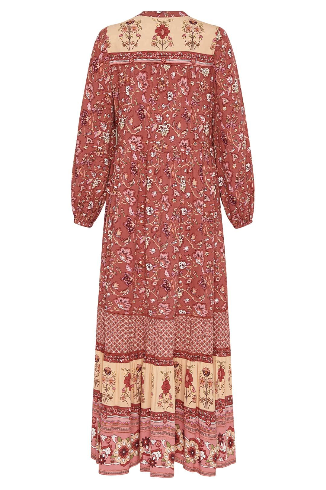 Spell Portobello Road Gown Wine Maxi Length