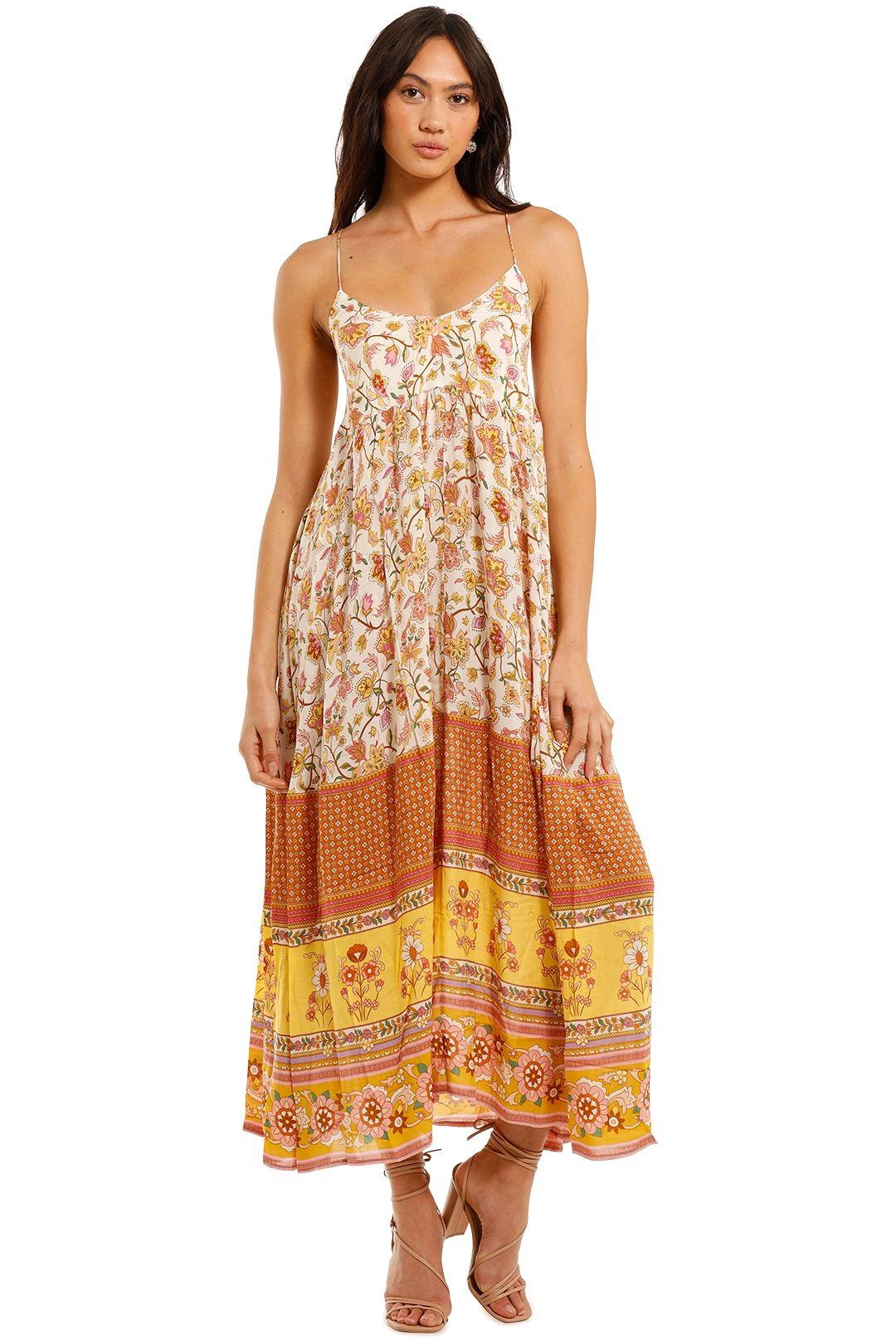 Spell Portobello Road Maxi Dress Honeydew
