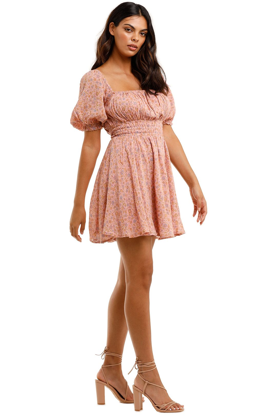 Spell Rae Mini Dress Dusty Pink