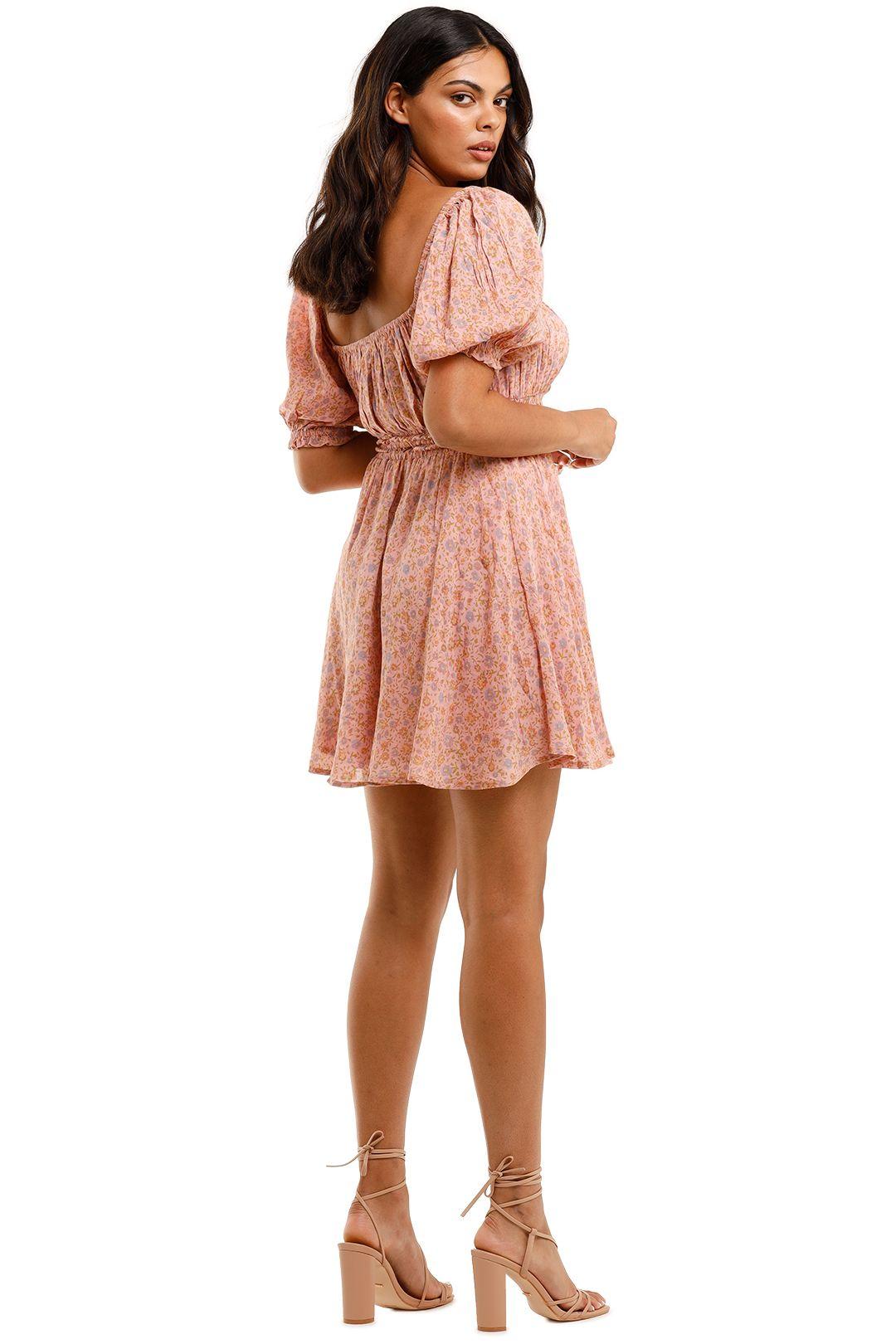 Spell Rae Mini Dress Dusty Pink Floral