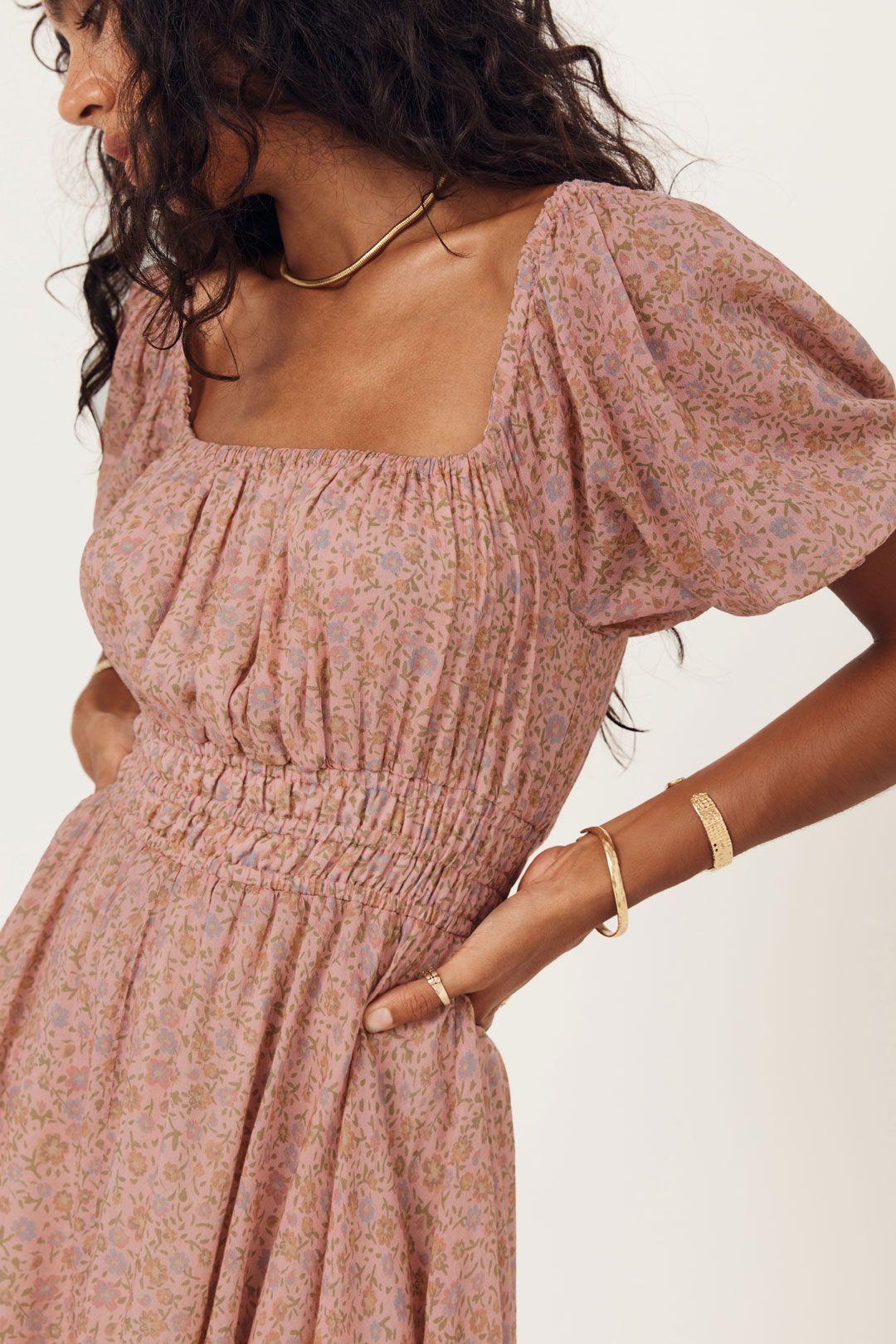 Spell Rae Mini Dress Shirred