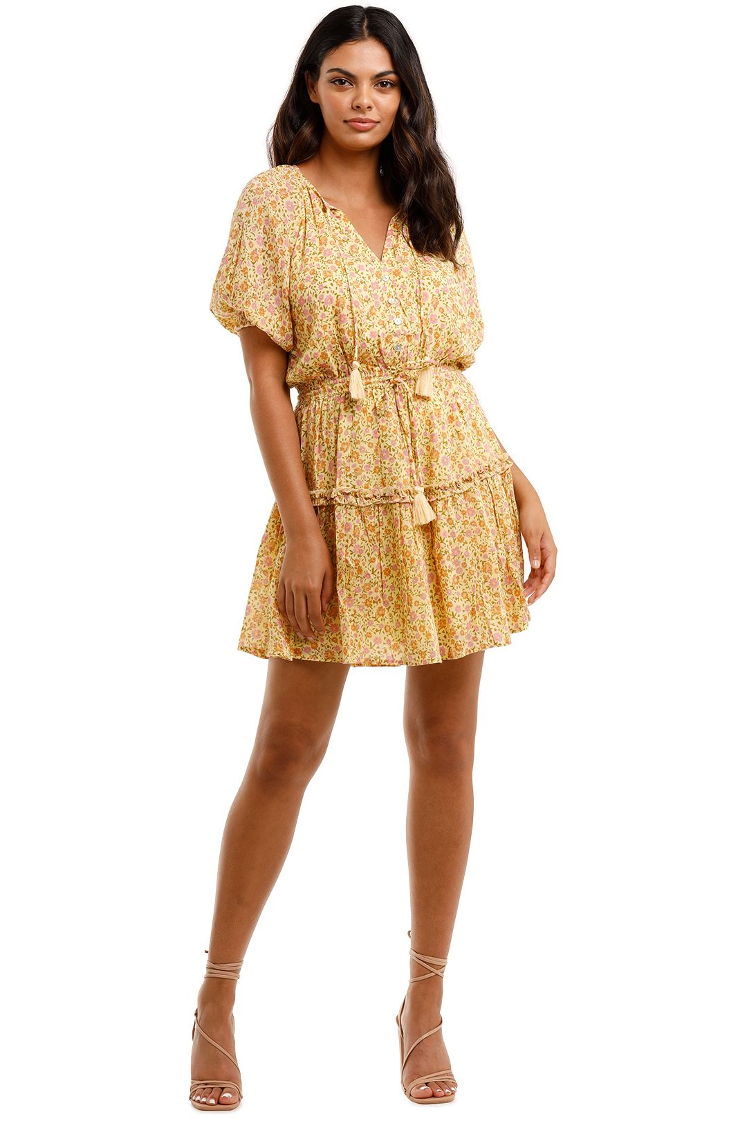 Spell Rae Playdress Daisy Yellow Mini Ditsy Print