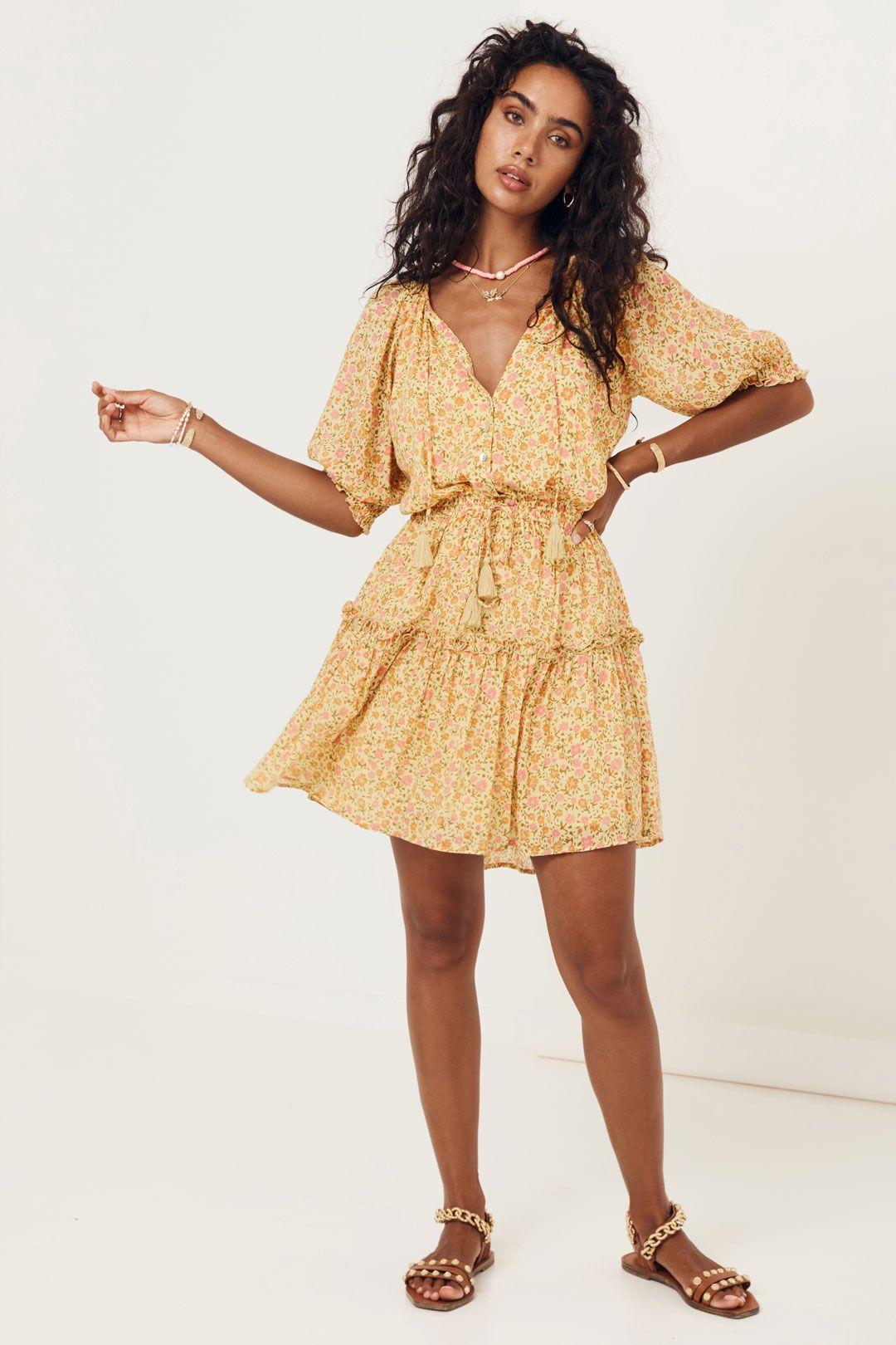 Spell Rae Playdress Daisy Yellow Full Skirt
