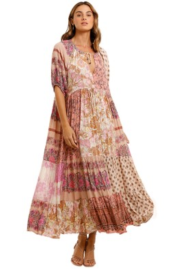 Spell - Renew Patchwork Gown - Blush