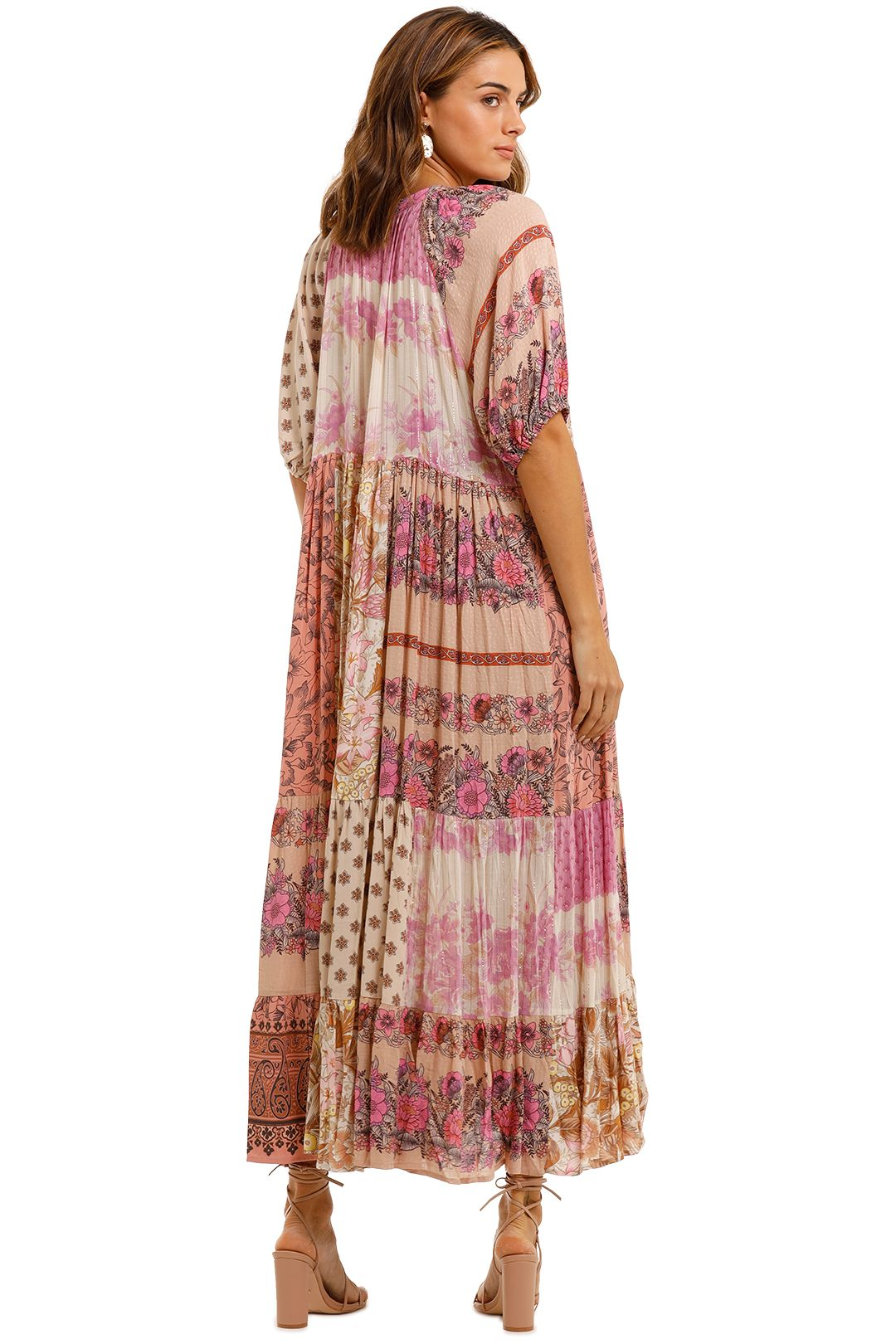 Spell Renew Patchwork Gown Blush floral