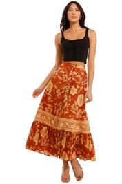 Spell Sloan Maxi Skirt Ochre