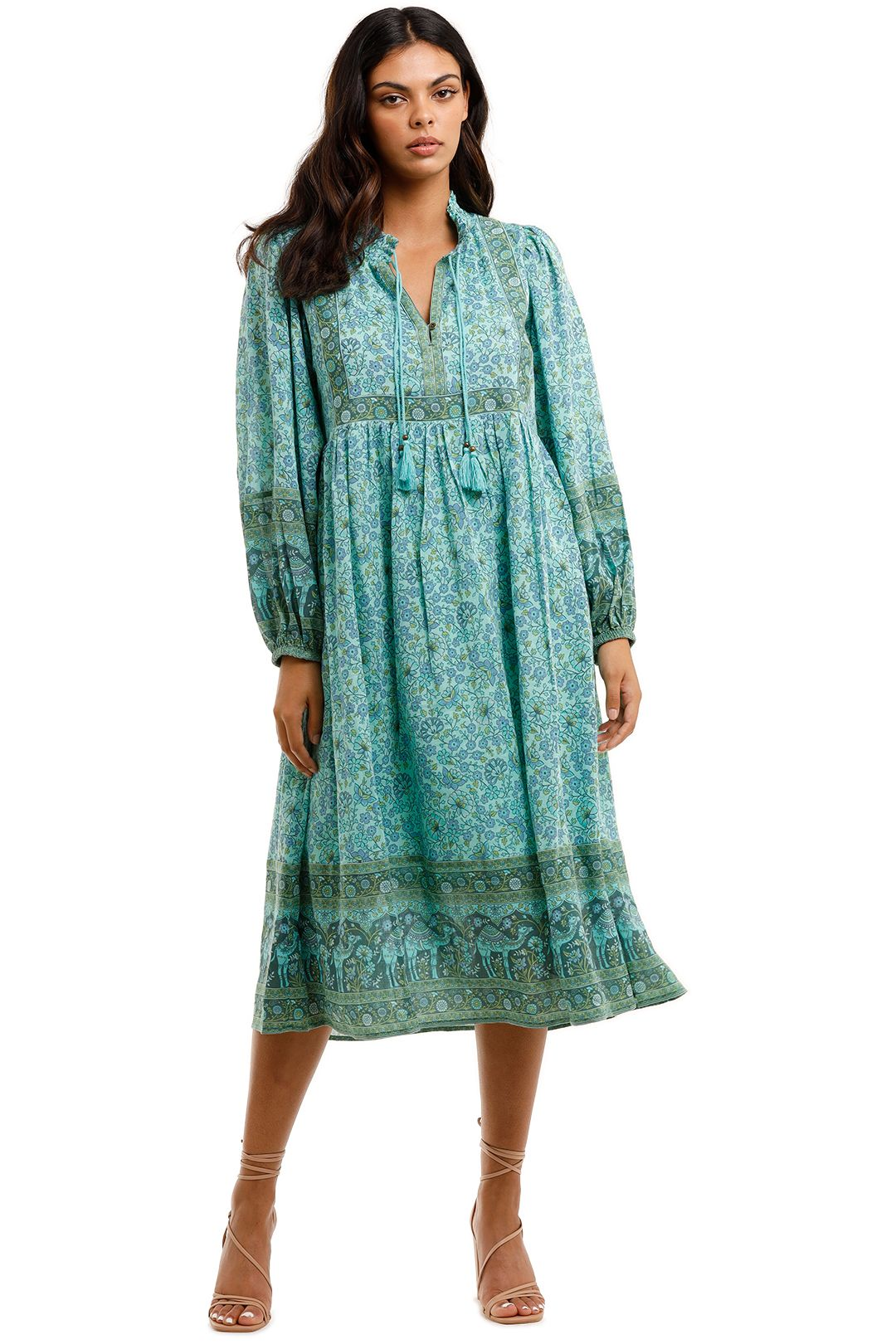 Spell Sundown Boho Dress Turquoise