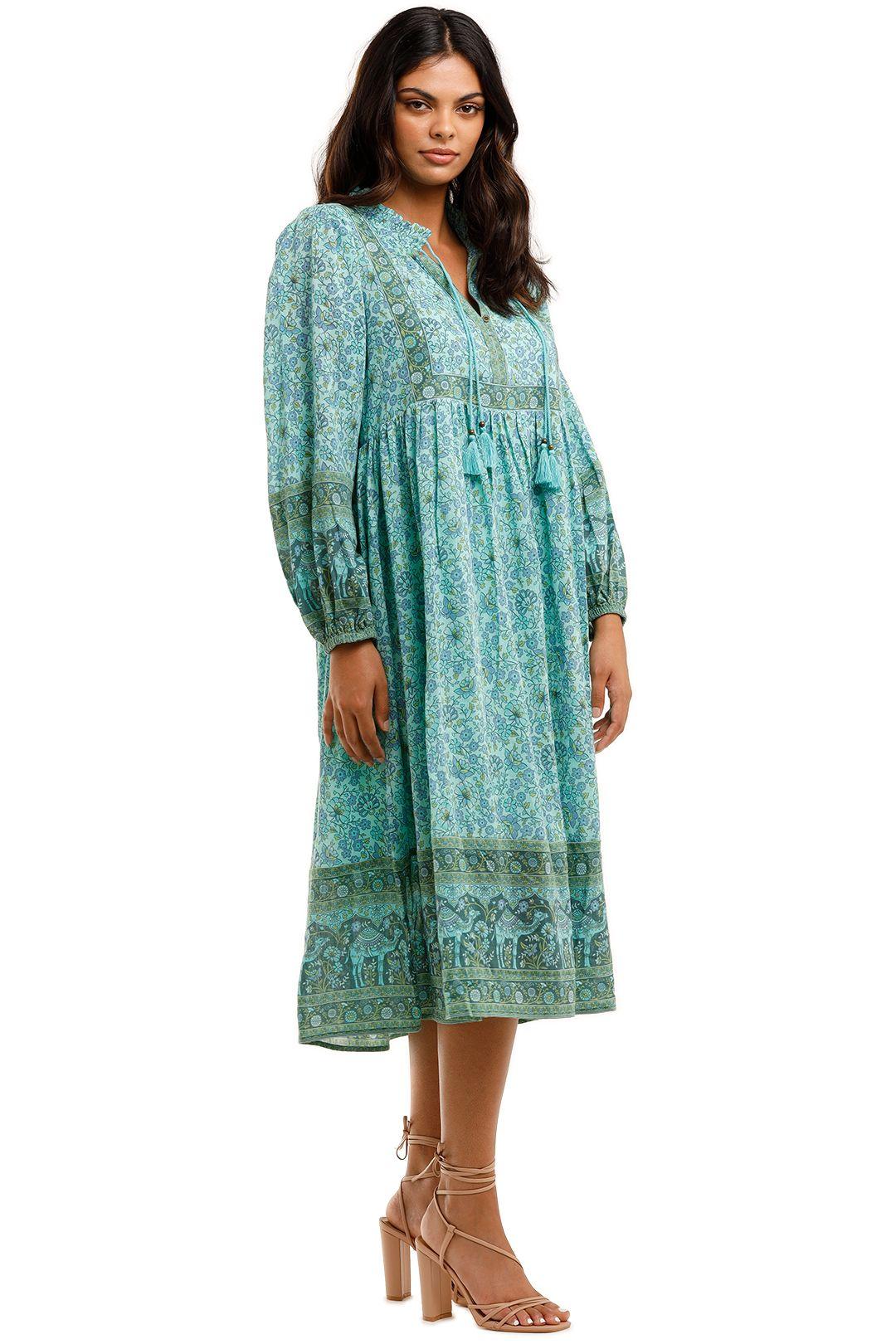 Spell Sundown Boho Dress Turquoise Blue