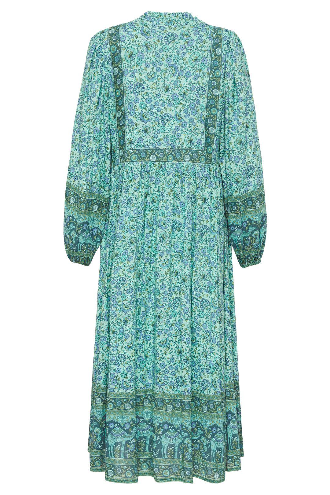 Spell Sundown Boho Dress Turquoise Full Skirt