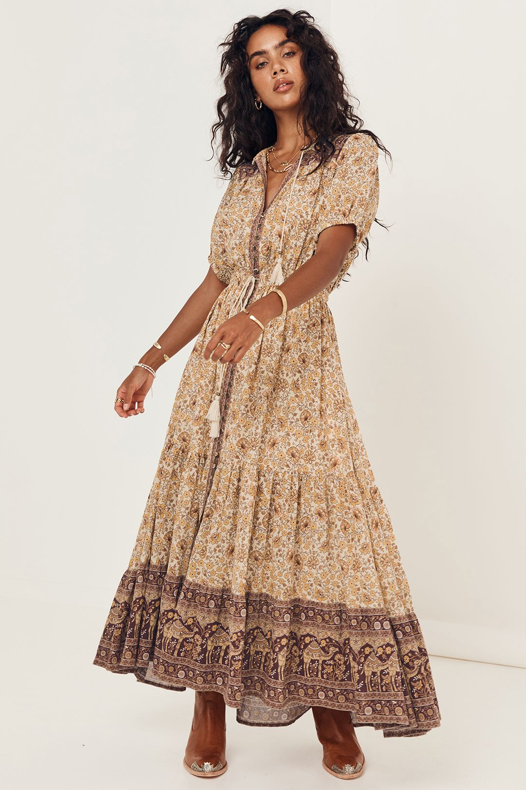 Spell Sundown Gown Spice Floral