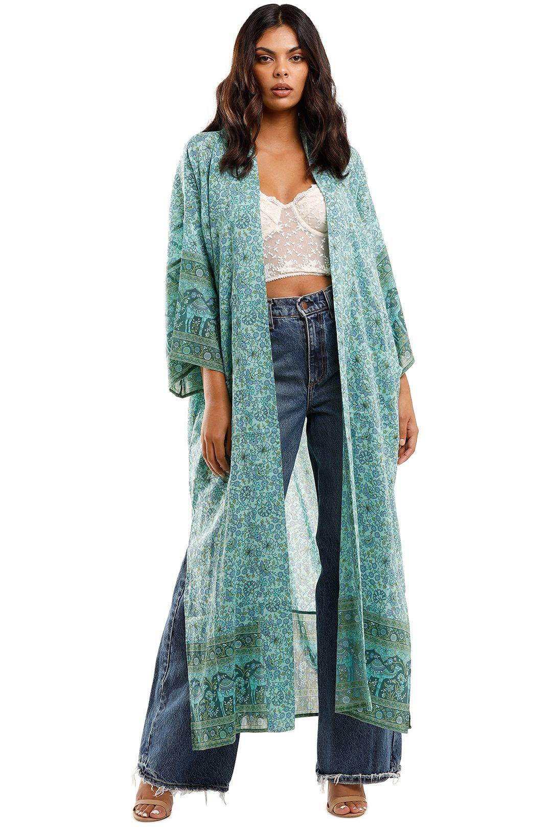 Spell Sundown Maxi Robe Turquoise