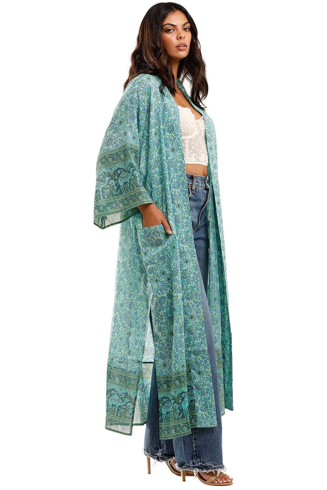 Spell Sundown Maxi Robe Turquoise Boho