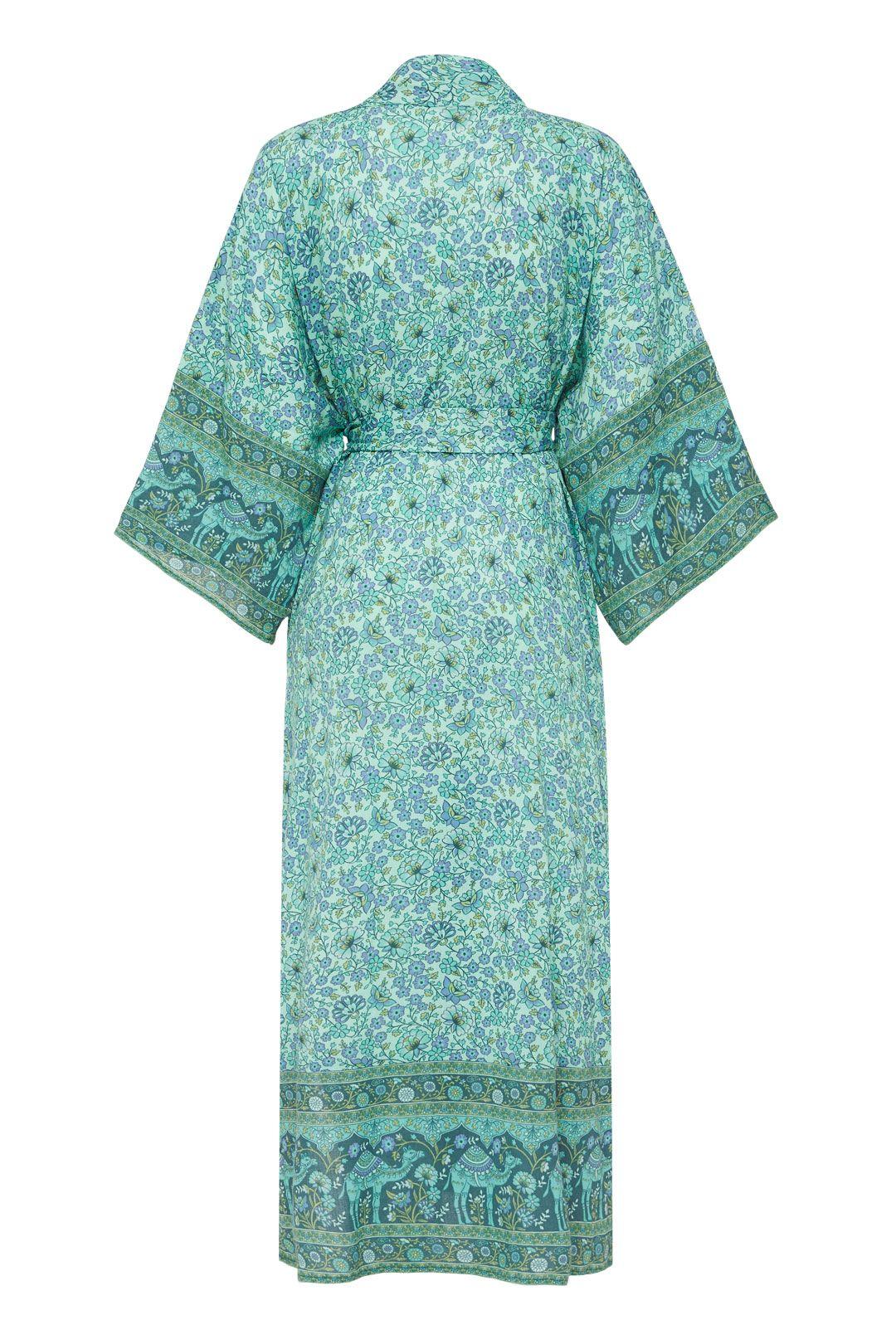 Spell Sundown Maxi Robe Turquoise Paisley