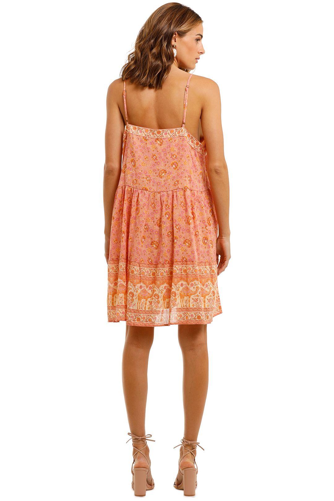 Spell Sundown Strappy Mini Dress Apricot Boho