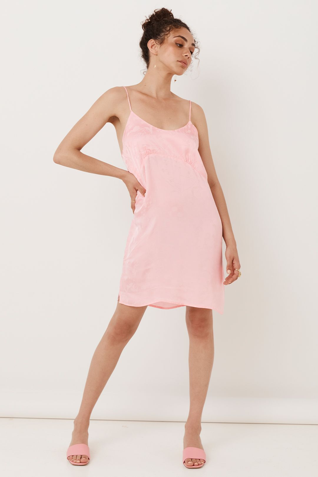Spell Verona Mini Slip Dress 90s Pink Pastel