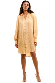 Spell Verona Shirt Dress Lemon Butter Long Sleeve