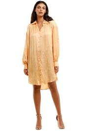 Spell Verona Shirt Dress Lemon Butter Long Sleeve