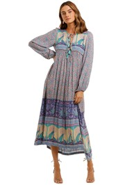 Spell Xanadu Maxi Dress Opal V neck