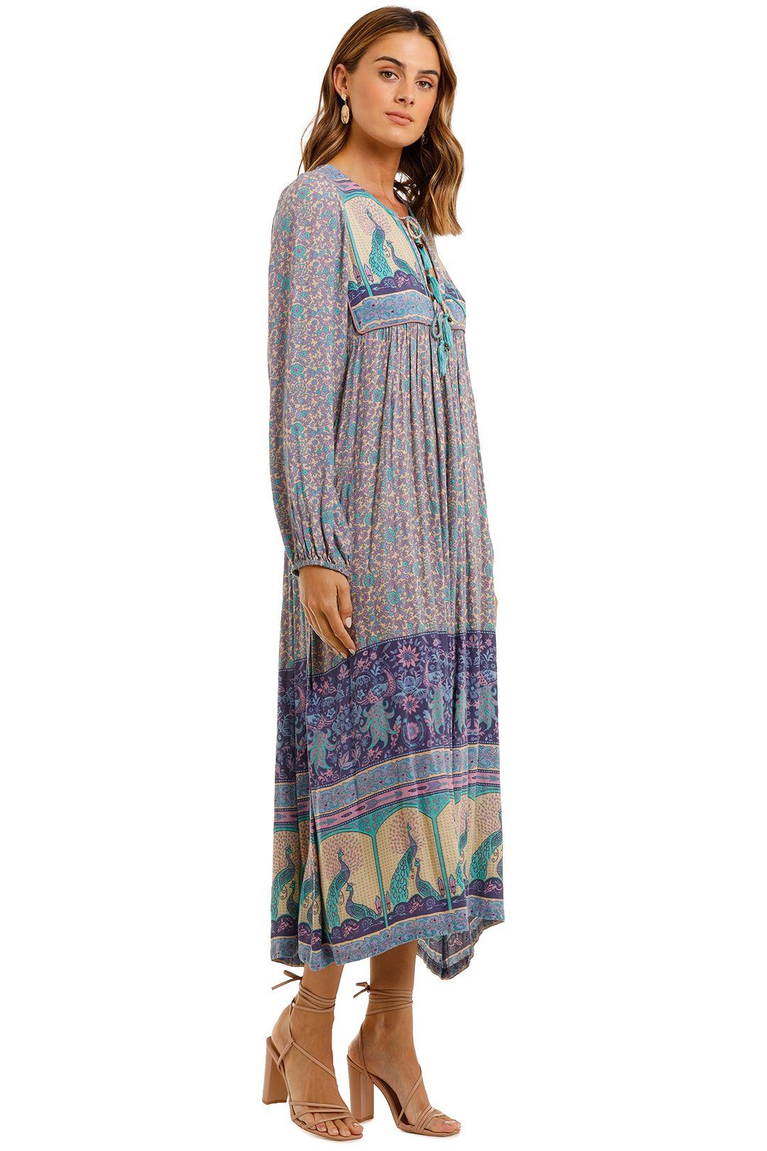 Spell Xanadu Maxi Dress Blue long sleeve